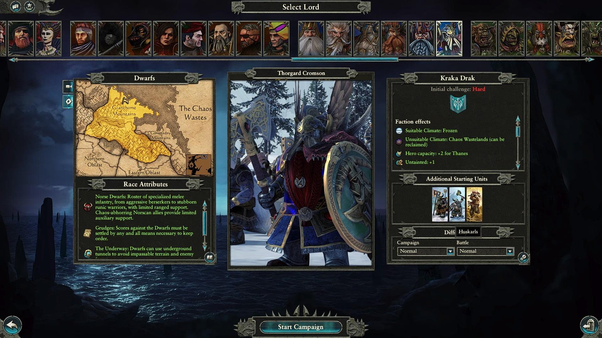 دانلود مد Cataph's Kraka Drak: the Norse Dwarfs برای بازی Total War: WARHAMMER II