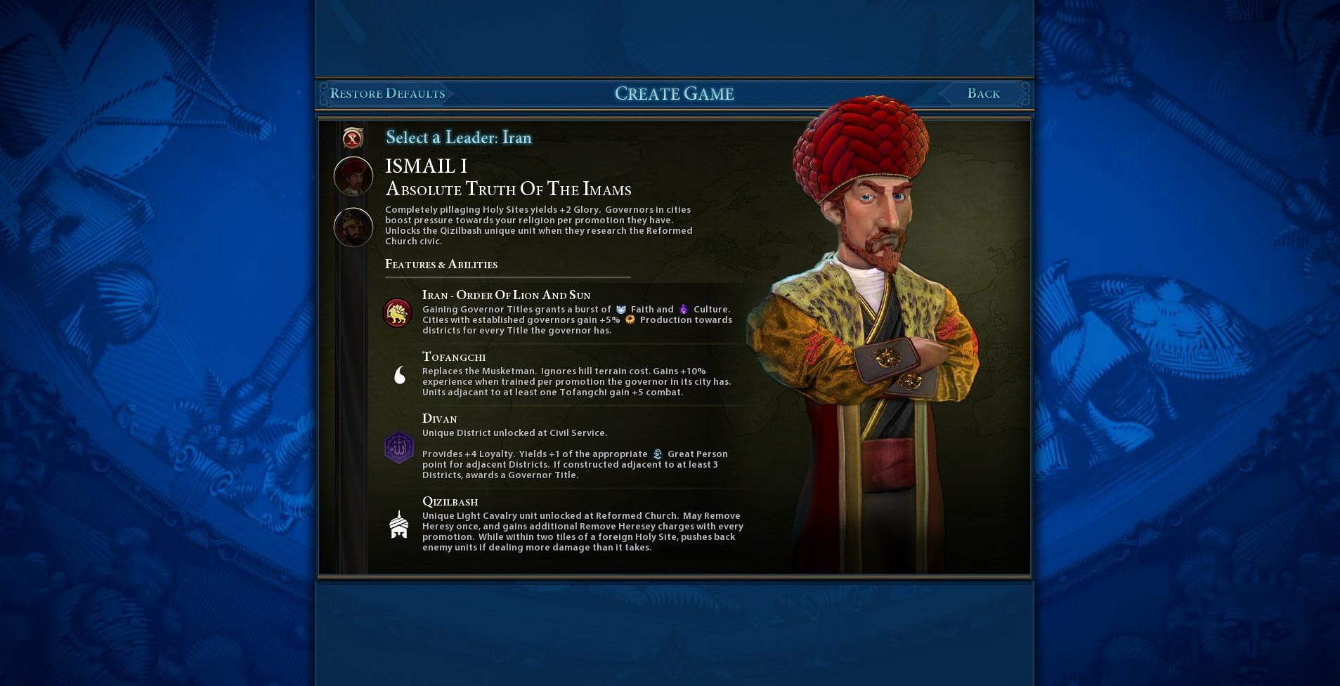 دانلود مد Iran Civilization برای بازی Civilization VI
