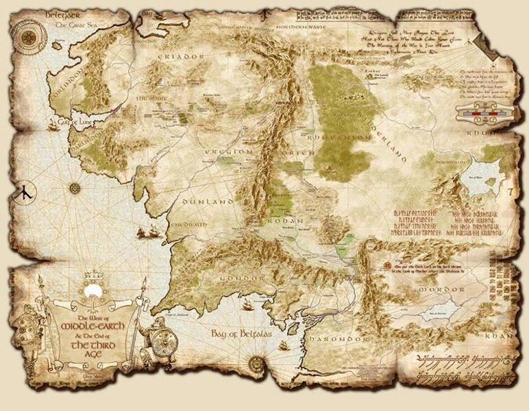 نقشه سرزمین میانه در بازی