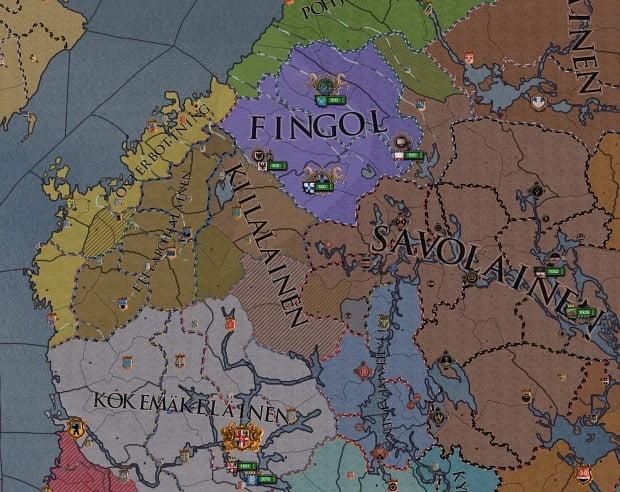 دانلود مد Crusader Finns برای بازی Crusader Kings II