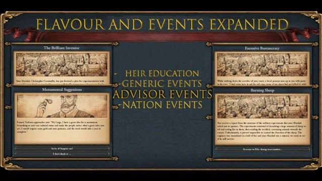 دانلود مد Flavour and Events برای بازی Europa Universalis IV