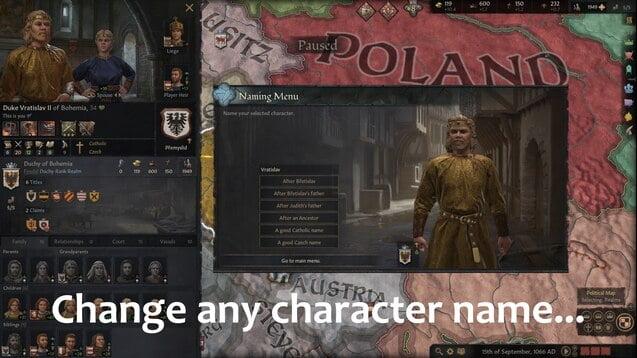 دانلود مد Daddy Pika's Cheat Menu برای بازی Crusader Kings III