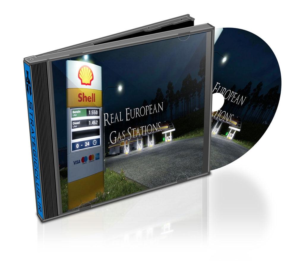 دانلود مد Real European Gas Stations برای بازی Euro Truck Simulator 2