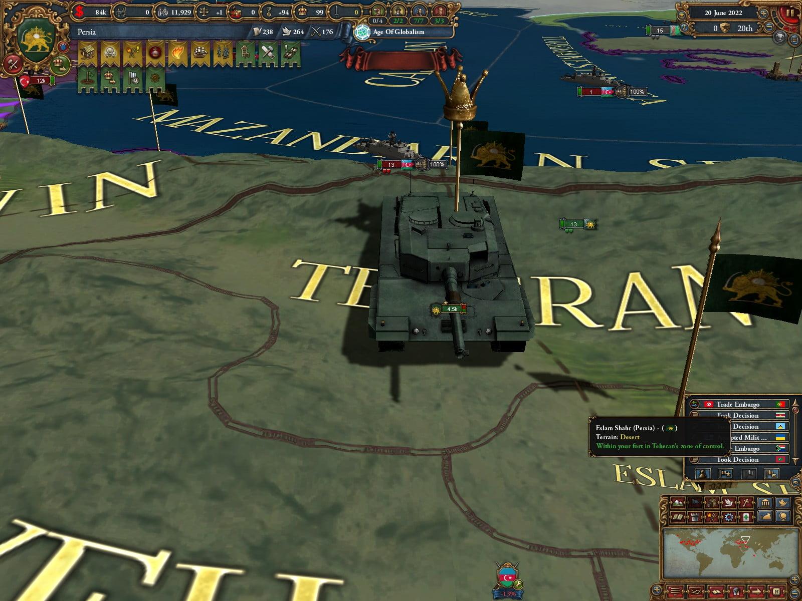دانلود مد Modern EU4 برای بازی Europa Universalis IV