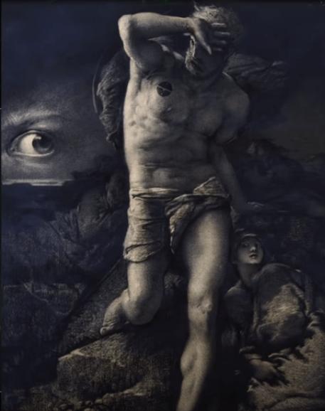 نشانی که خداوند قابیل (Kane) را با آن مشخص کرد (توسط فرانسوا-نیکلاس چیفلارت، قرن نوزدهم)