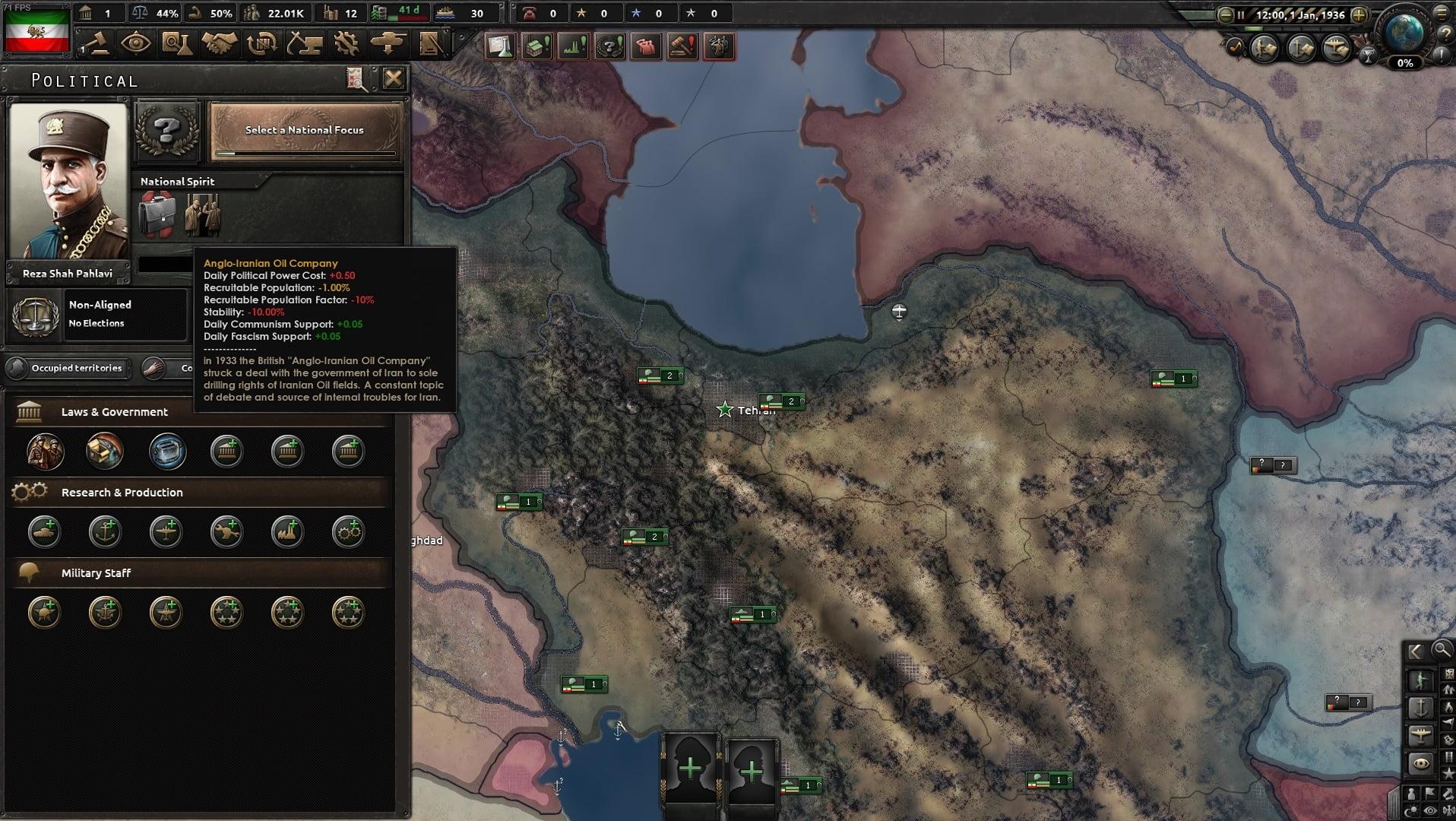 دانلود مد Persia Rising Lives برای بازی Hearts Of Iron IV