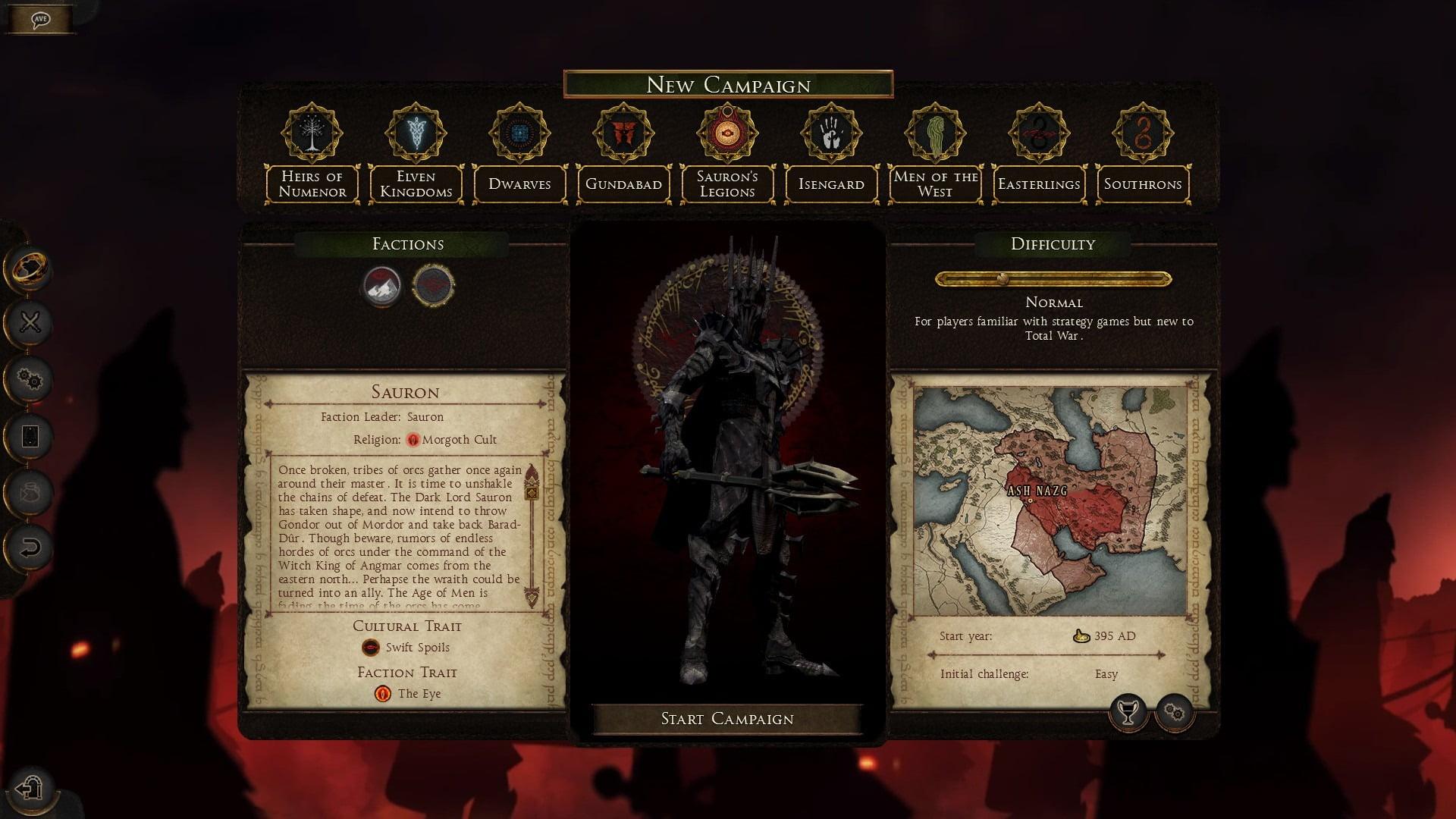 دانلود مد Rise of Mordor: The War of the Ring برای بازی Total War: Attila